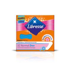 Ежедневные прокладки Libresse Dailyfresh Normal Deo, 32 шт.