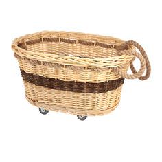 Корзина для белья на колесиках kelly овал Bizzotto home