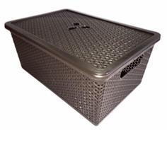 Корзина универисльная с крышкой Пластик центр (35BQ4022ВНГ)