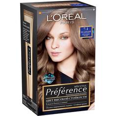 Краска для волос LOreal Paris Recital Preference 7.1 Исландия L'Oreal