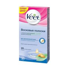 Восковые полоски Veet для депиляции для чувствительнойкожи 20 шт