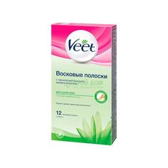 Восковые полоски Veet для депиляции для сухой кожи 12шт (12/7508404)