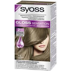 Краска для волос Syoss Gloss Sensation 7-5 Холодное глясе