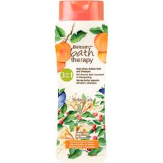 Шампунь, гель для душа, пенна для ванн Bath Therapy 3 в 1 Жимолость и персик 500 мл
