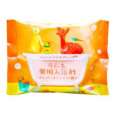 Соль-таблетка для ванн Charley Sommelier Расслабляющая с ароматом манго и апельсина 40 г