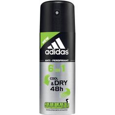 Дезодорант-антиперспирант Adidas 6in1 Cool&Dry 150мл