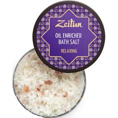 Антистрессовая соль для ванн Zeitun С маслами лаванды, эвкалипта и можжевельника 250 мл Зейтун