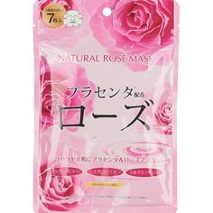 Тканевая маска Japan Gals С экстрактом розы 7 шт