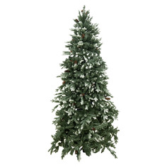 Елка National Tree с заснеженными шишками 228 см (PECG3-500-75)