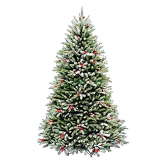 Елка National Tree Company Dunhill с шишками и снежинками 243см