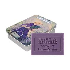 Мыло Plantes & Parfums Лаванда в металлической коробочке Девушка 100 г