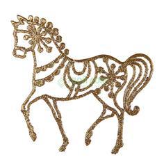 Фигурка Weiste Лошадь 120мм золотая (96102)
