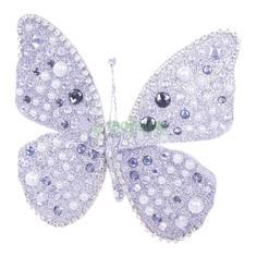 Фигурка KaemingK Бабочка на клипсе 13х11см серебро (704023)