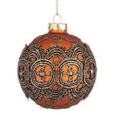 Шар елочный Bizzotto ny delhi arancione 919218