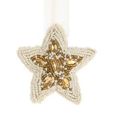 Украшение елочное rahul stella oro-bianco s Bizzotto ny