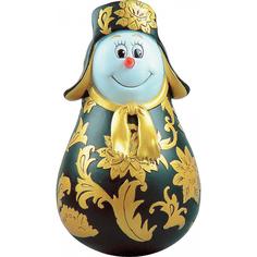 Неваляшка Mister Christmas Снеговик хохлома11 см