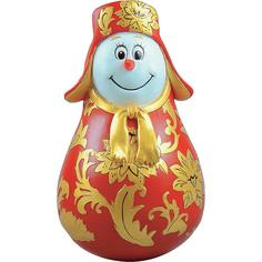 Неваляшка Mister Christmas Снеговик хохлома 11 см