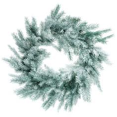 Венок Царь-елка Датская голубая заснеженная 45 см