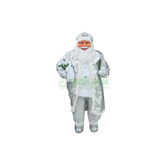 Фигурка Cheng kuo Санта Клаус с подарком в серебр одежде 183см (CK615A-10642/CK615A-11737)