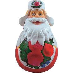 Неваляшка Mister Christmas Дед мороз классическая 11 см