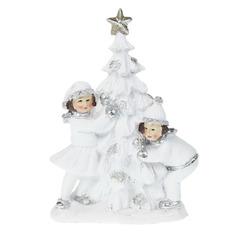 Сувенир Star craft Дети с новогодней елкой 12х5х17 см