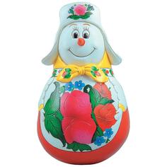 Неваляшка Mister Christmas Снеговик классическая 11 см