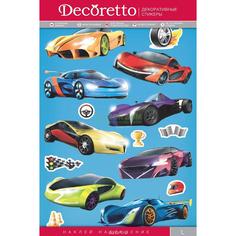 Наклейки Decoretto Спортивные тачки (KH 4002)