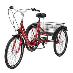 Велосипед трехколесный Casadei tre ruote 24 красный
