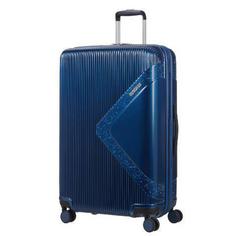 Чемодан American Tourister Modern dream синий с блеском L