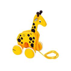 Каталка-жираф 1TOY brio на веревочке