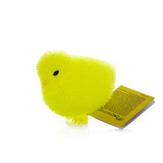 Игрушка фигурка цыпленок с резиновым ворсом с подсветкой в ассортименте HGL