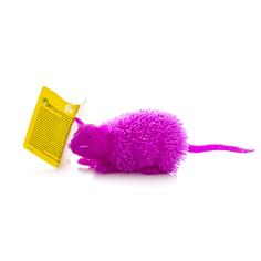 Игрушка фигурка мышь с резиновым ворсом с подсветкой в ассортименте HGL