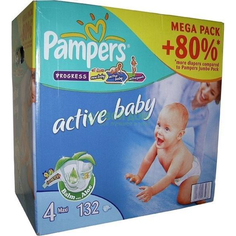 Подгузники Pampers Active baby Maxi 7-14 кг 132 шт