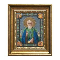 Вышивание Чарiвна мить Набор для вышивания бисером икона сергия радонежского (Б-1024)