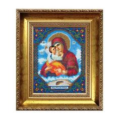 Вышивание Чарiвна мить Набор для вышивания бисером икона божьей матери почаевская (Б-1006)
