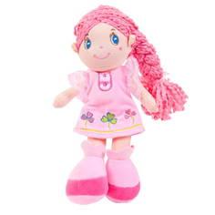 Кукла с косой и розовом платье ABtoys 20 см