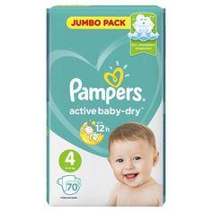 Подгузники Pampers Active Baby-Dry 4 Maxi (9-14 кг) 70 шт