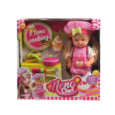 Кукла шеф-повар 36см Bambolina baby nena BD387