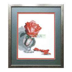 Вышивание Чарiвна мить Набор для вышивания роза в бокале