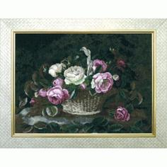Вышивание Чарiвна мить Набор для вышивания розы в корзине
