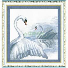 Вышивание Чарiвна мить Набор для вышивания лебеди 294