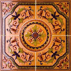 Панно Kerama Marazzi Розон Пале Рояль светлый наборный 60,4x60,4 см ID19