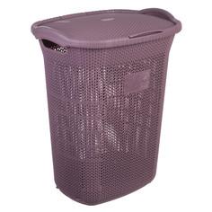 Корзина для белья 65 л Violet Виолетта сливовый