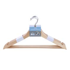 Вешалки Yikai дерев. 5 шт с плечиками и перекладиной для брюк 45х23 см