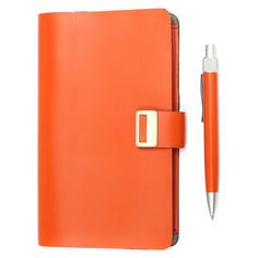 Блокнот для записей ICEBERG с ручкой красный