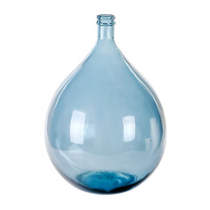 Ваза-бутыль декоративная Kaemingk 56см синий