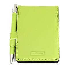 Блокнот для записей ICEBERG с ручкой зеленый