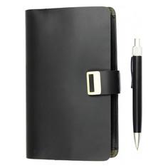 Блокнот для записей ICEBERG с ручкой черный