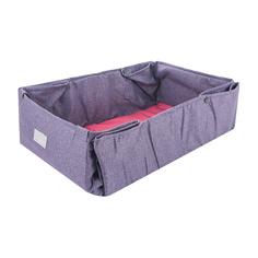Лежанка-трансформер дорожная для собак colour Pretty Pet мадрид графит розовая 34х49х15 см