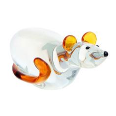 Фигурка Art glass мышка 18х6см